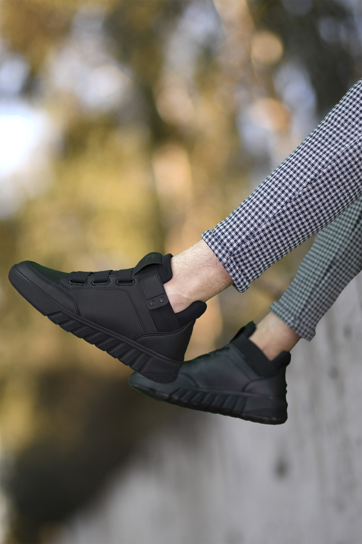 Riccon Erkek Siyah  Sneaker Bot 0012383 2