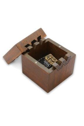 CO Cadeaux Kahverengi Ahşap Hediye Yüzük Alyans Kutusu