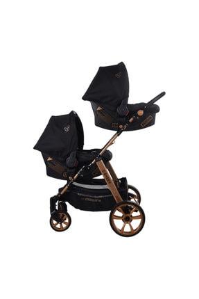 Mamma Siyah Travel Sistem İkiz Bebek Arabası