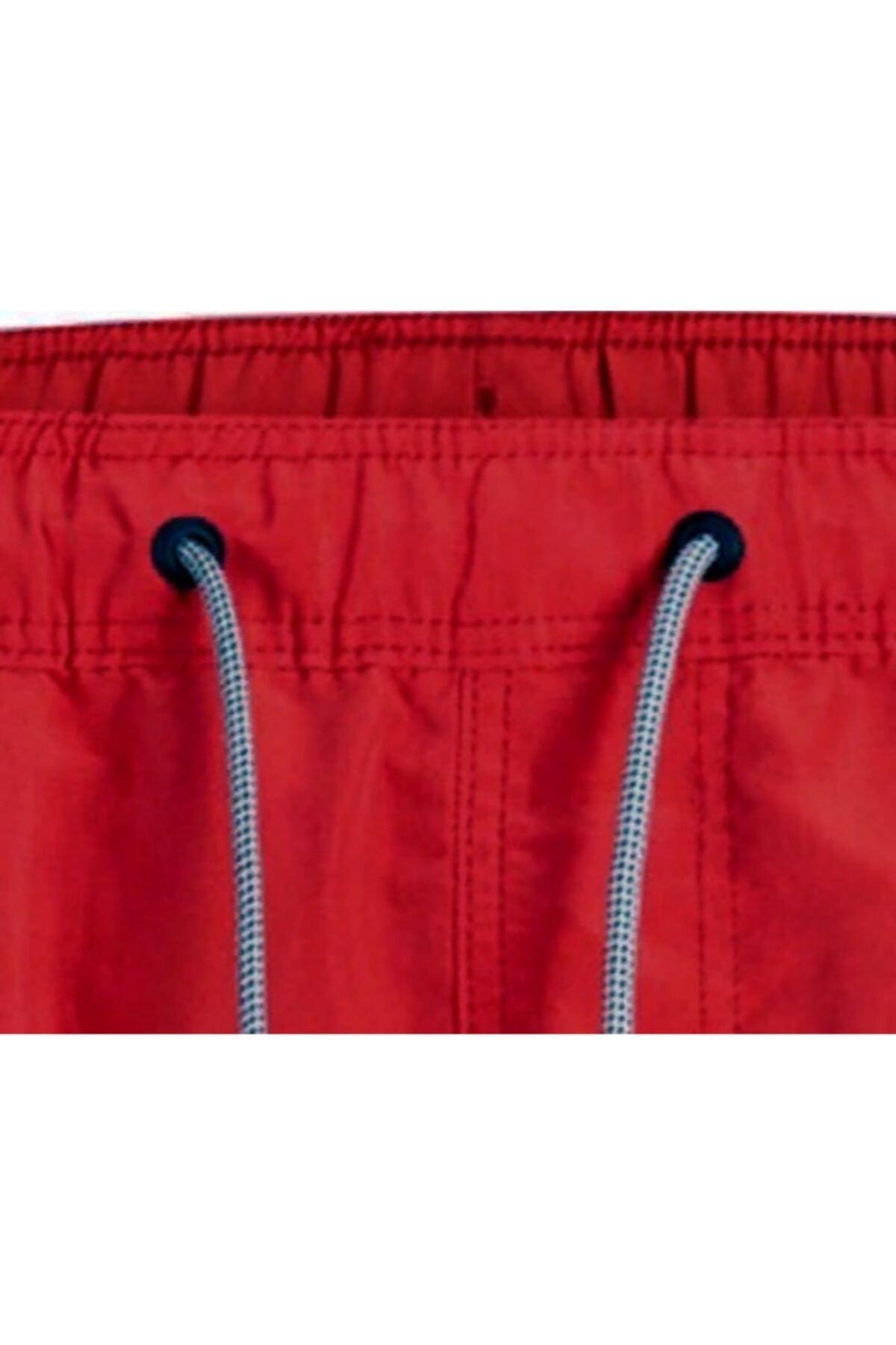 Jack & Jones Erkek Kırmızı Lastikli Deniz Şortu 2