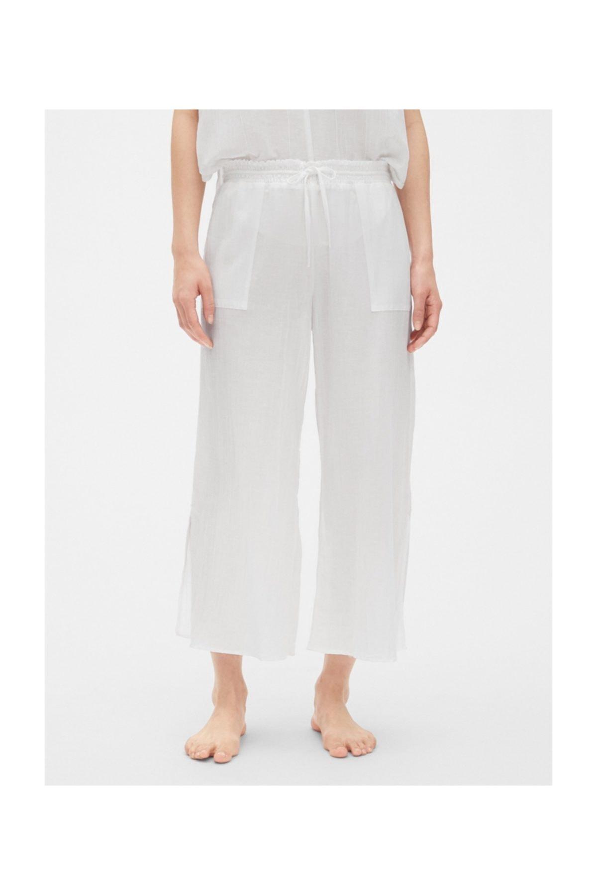 GAP Kadın Beyaz Pijama Altı 469132 1