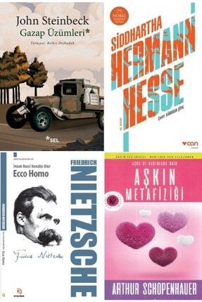 Optimum Kitap Gazap Üzümleri - Steinbeck, Siddhartha - Hesse, Ecco Homo -nietzsche Ve Aşkın Metafiziği Kitap Seti
