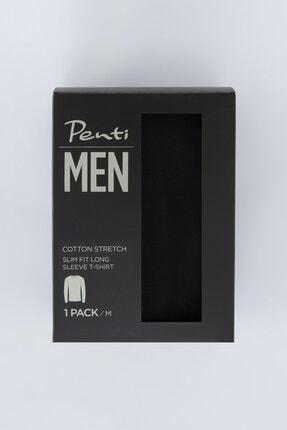 Penti Erkek Siyah Basic Slim Tişört