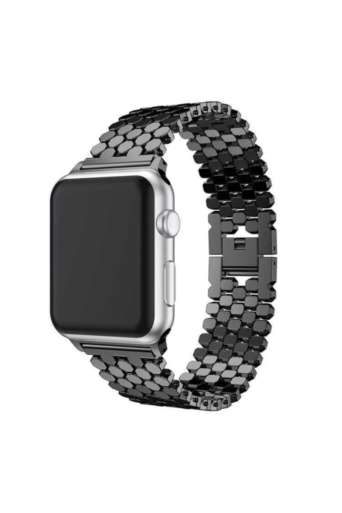 zore Apple Watch 6 40mm Bal Peteği Tasarımlı Metal Gövdeli Kordon 1