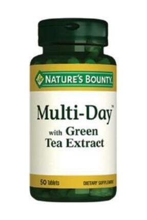 Nature's Bounty Multi Day With Green Tea 50 Tablet