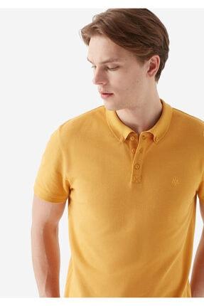 Mavi Erkek Koyu Sarı Polo Tişört