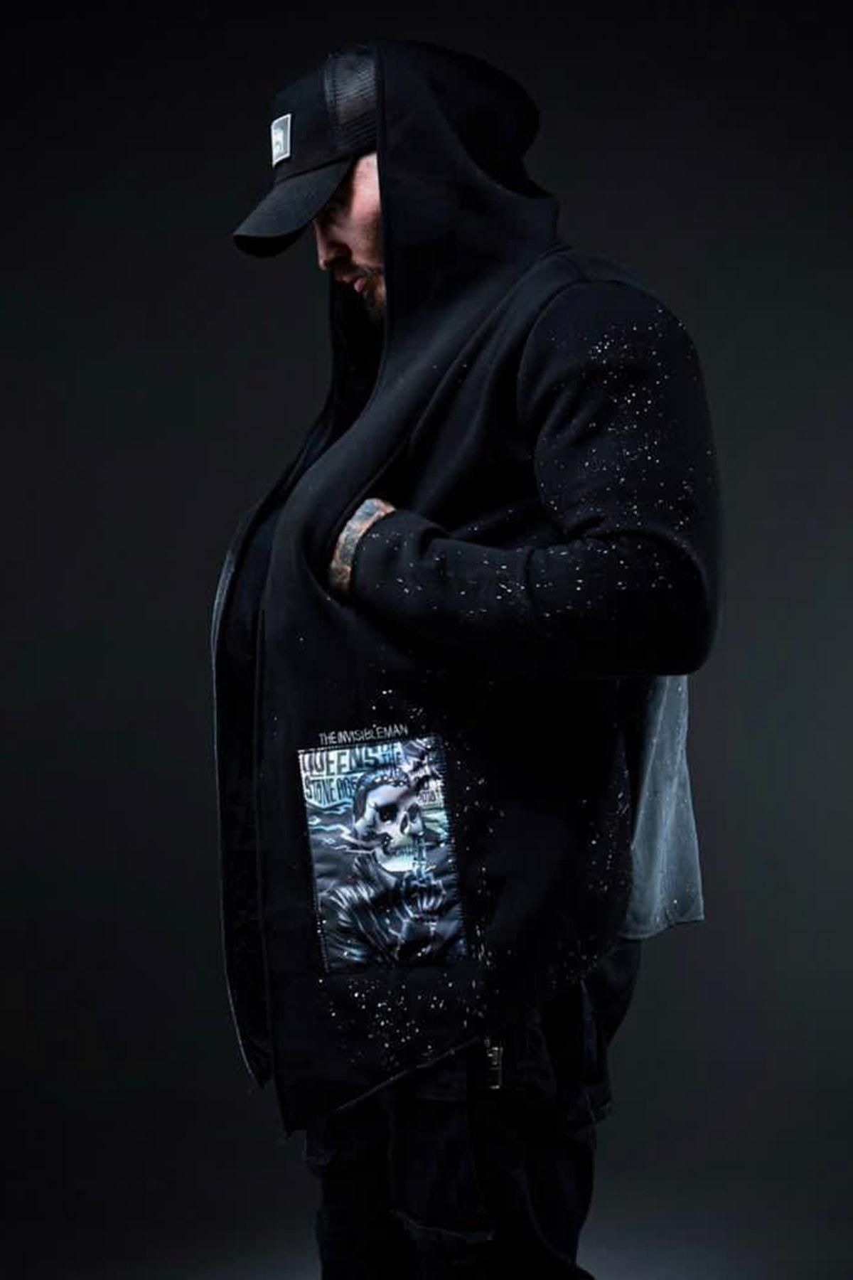 XHAN Siyah Kamuflaj Baskılı Sweatshirt 1KXE8-44333-02 1