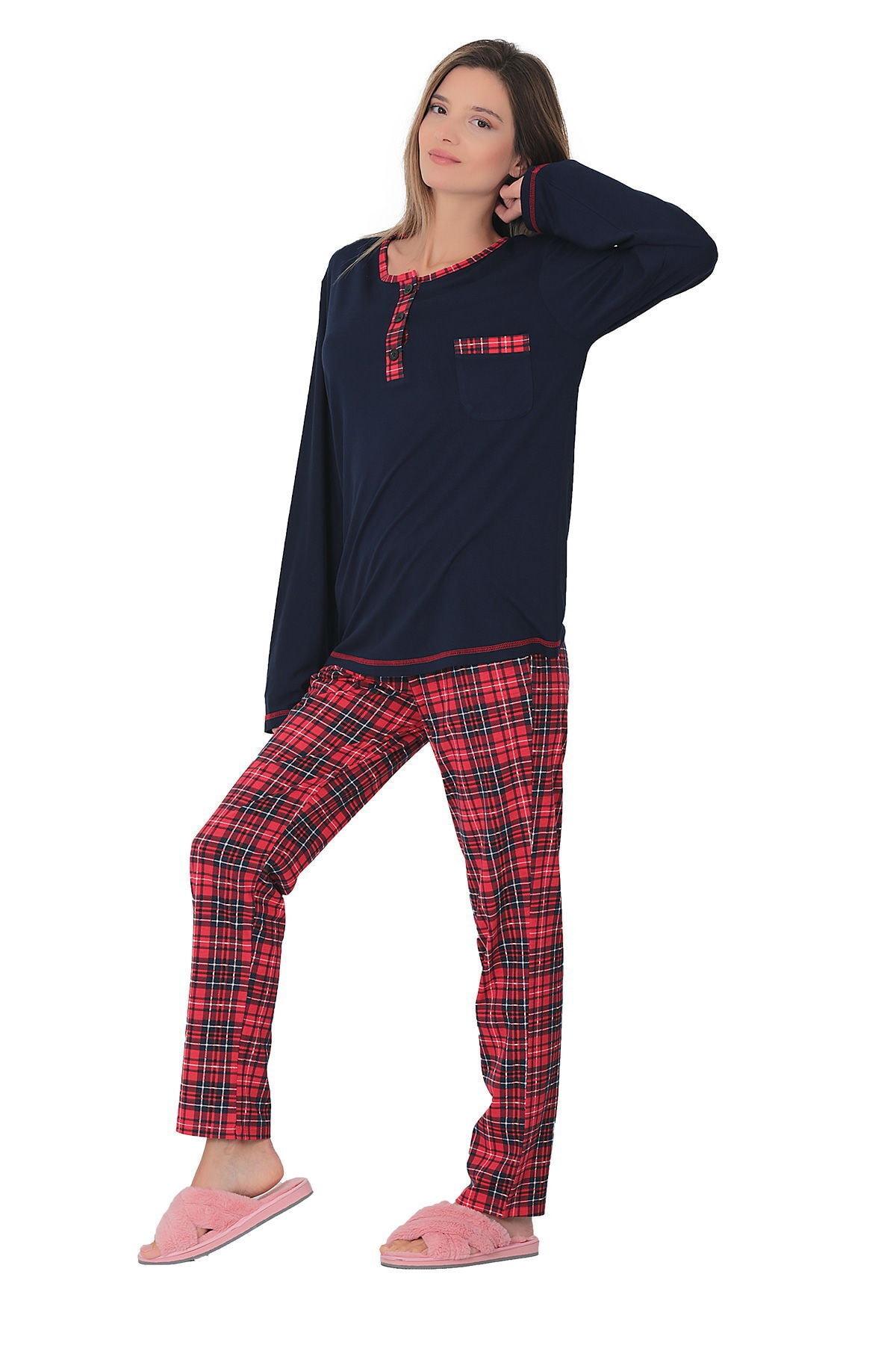 TİESSİ Ekose Pijama Takımı 1