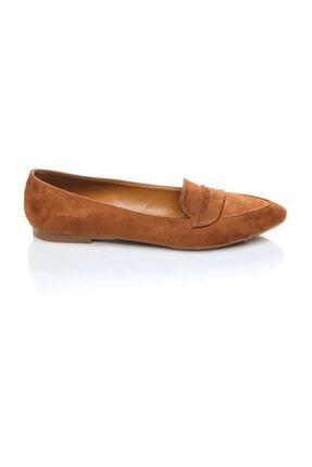 Shoes Time Taba Süet Kadın Babet 19Y 140