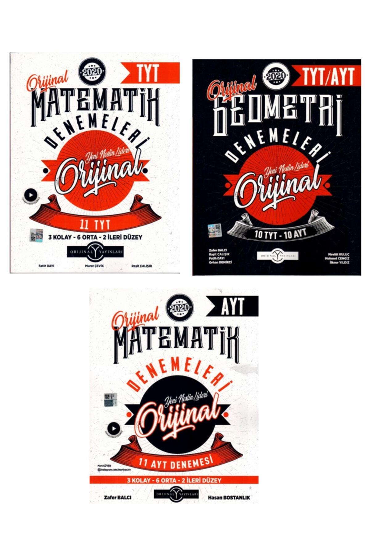orjinal yayınları Ayt Tyt Orijinal Matematik ve Geometri 3'lü Deneme Seti Yeni 2020 1