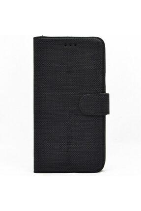 Meizu Nihcase Note 8 Kılıf Kumaş Spor Standlı Cüzdan Kılıf Siyah