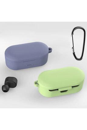 Ally Mobile Qcy T1s-t2c Bluetooth Kulaklık Için Silikon Koruma Kılıf+ Anahtarlık