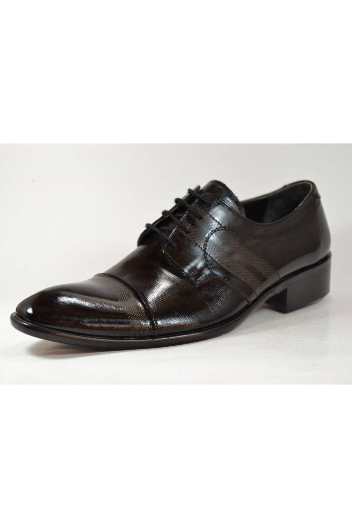 TETRİ Erkek Siyah Rugan Deri Klasik Ayakkabı 2026 1