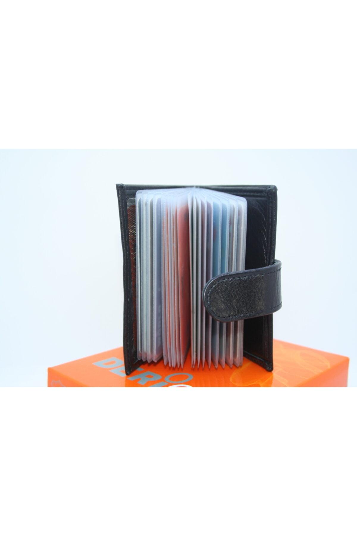 DERİCO Unisex Siyah Deri Kartlık 1