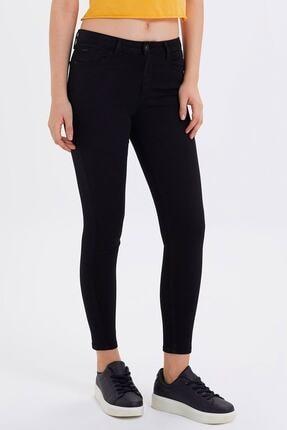 Loft Kadın Siyah  Skinny Fit Bilek Paça Pantolon