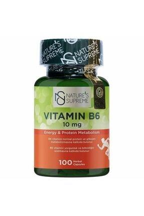 Nature's Supreme Vitamin B6 10 Mg 100 Kapsül