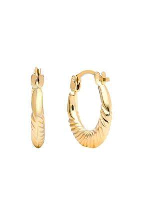 Gelin Pırlanta Gelin Diamond 14 Ayar Altın Halka Küpe (1.3 Cm)