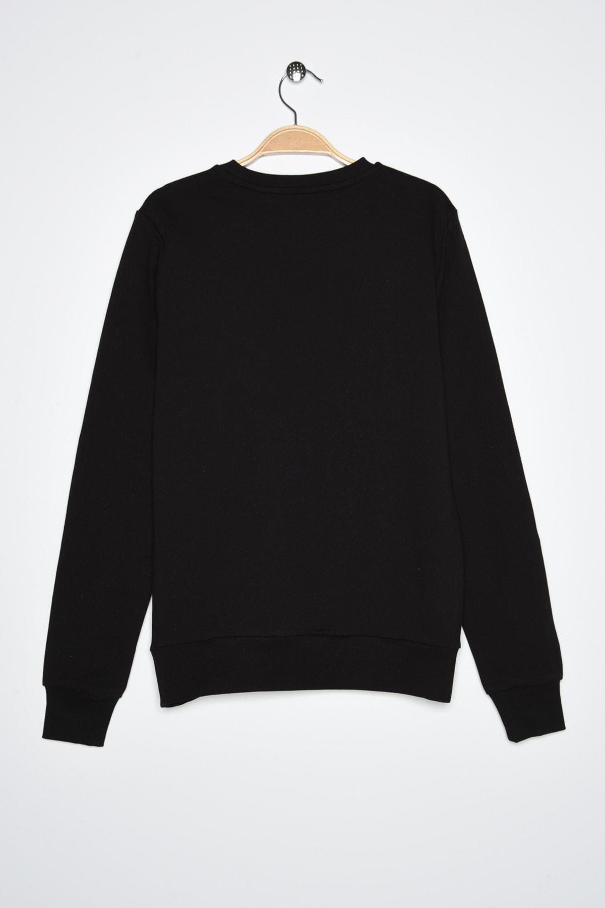 New Balance Kadın Spor Sweatshirt - CREW NECK  - WTC0303-BK 2