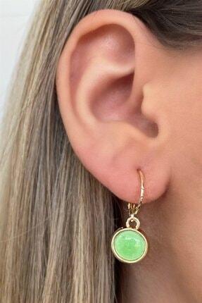 TAKIŞTIR Kadın Yeşil Boncuk Detaylı Küpe