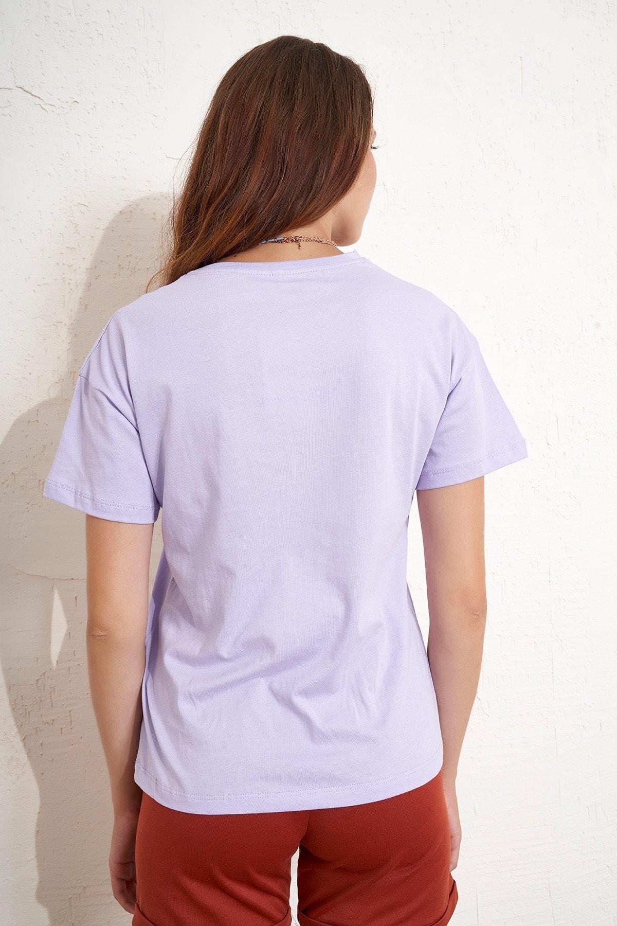 Eka Kadın Spiritual Baskılı T-shirt 2