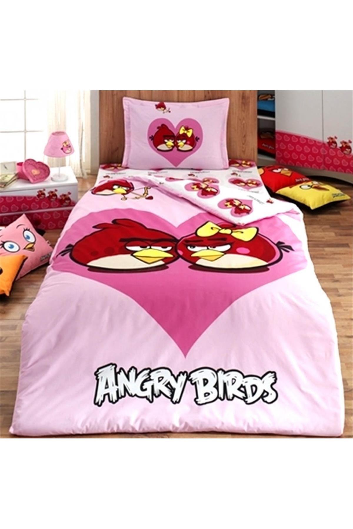 Angry Birds Tek Kişilik Ranforce Nevresim Takımı 1