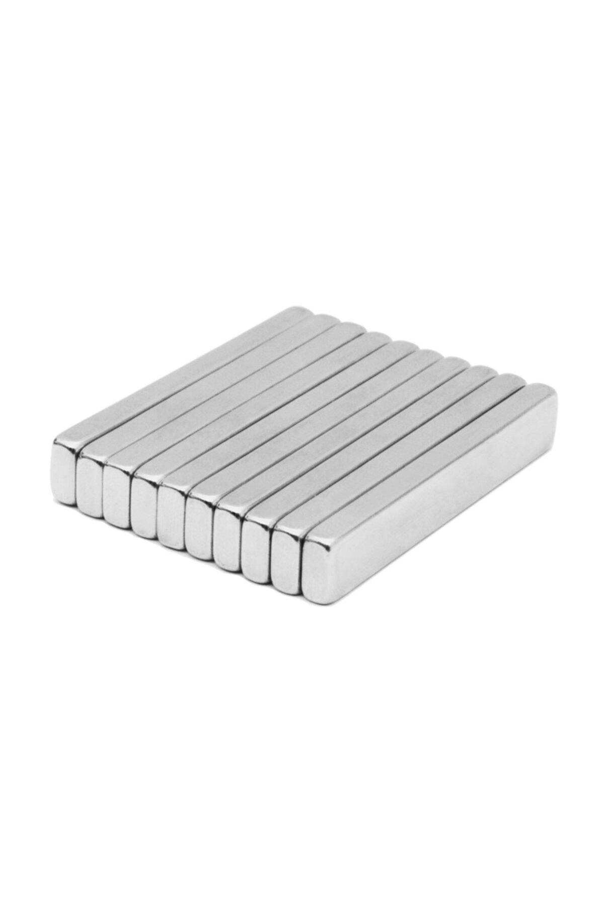 Dünya Magnet 5 Adet Çok Güçlü 50mm X 10mm X 5mm Köşeli Süper Güçlü Neodyum Mıknatıs 2