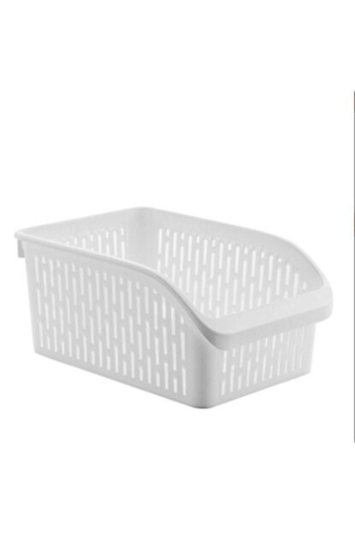 Sas Buzdolabı Sepeti Dolap Içi Düzenleyici Sepet Organizer Beyaz 6 Adet 30x17x16 2