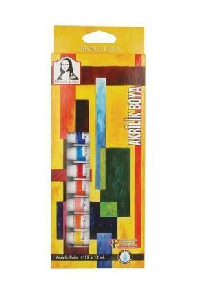 Südor 12 Renk Mona Lisa Tüp Akrilik Boya 12 ml