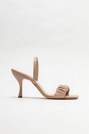 Elle Kadın Bej Naturel Topuklu Sandalet