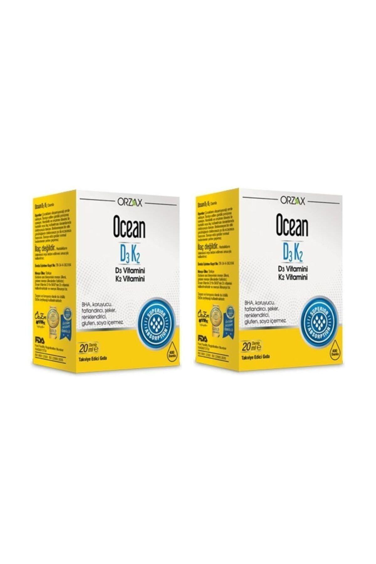 Ocean Orzax Ocean Vitamin D3k2 Damla 20 ml 2'li Paket (Miad 12/2022) 1