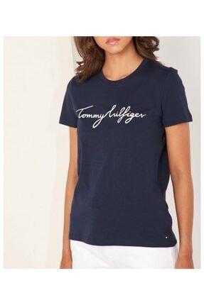 Tommy Hilfiger Kadın Lacivert T-shirt