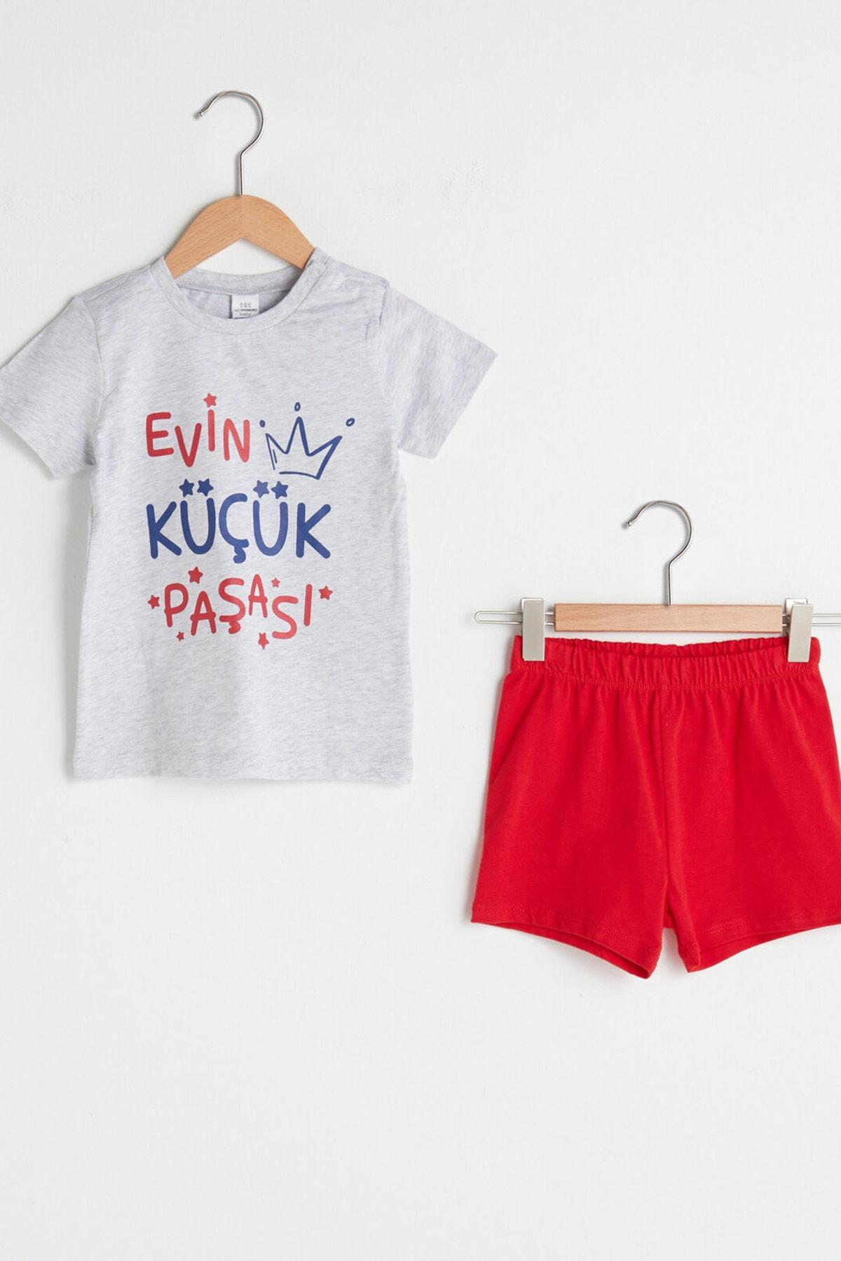 LC Waikiki Erkek Bebek Kırıkbeyazmelanj Cx8 Pijama Takımı 1
