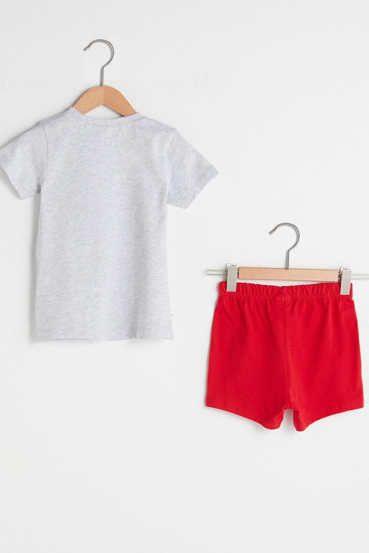 LC Waikiki Erkek Bebek Kırıkbeyazmelanj Cx8 Pijama Takımı 2