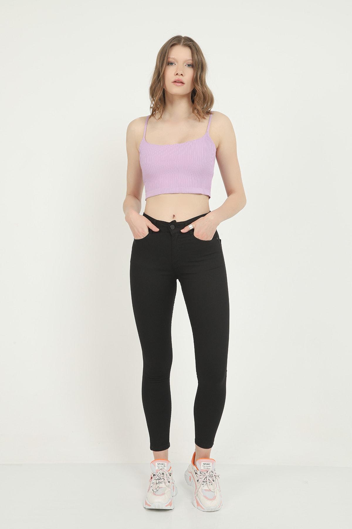 İklim Kadın Siyah Yüksek Bel Skinny Jean 2