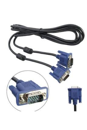 ATAELEKTRONİK 1.5m 1,5mt 1.5 Metre Siyah Vga Wga Kablo Monitör Lcd Led Tv Televizyon Projeksiyon Kablosu