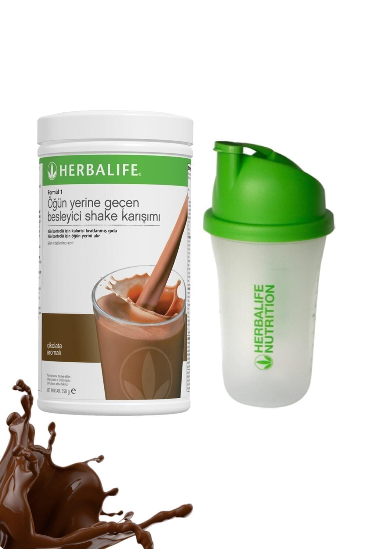 Herbalife Shake Çikolata 550 gr + Shaker Hediyeli 1