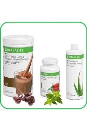 Herbalife 1 Adet Shake, 1adet Bitkisel Konsantre Çay 50g Şeftali, 1adet Herbal Aloe Konsantre Içecek
