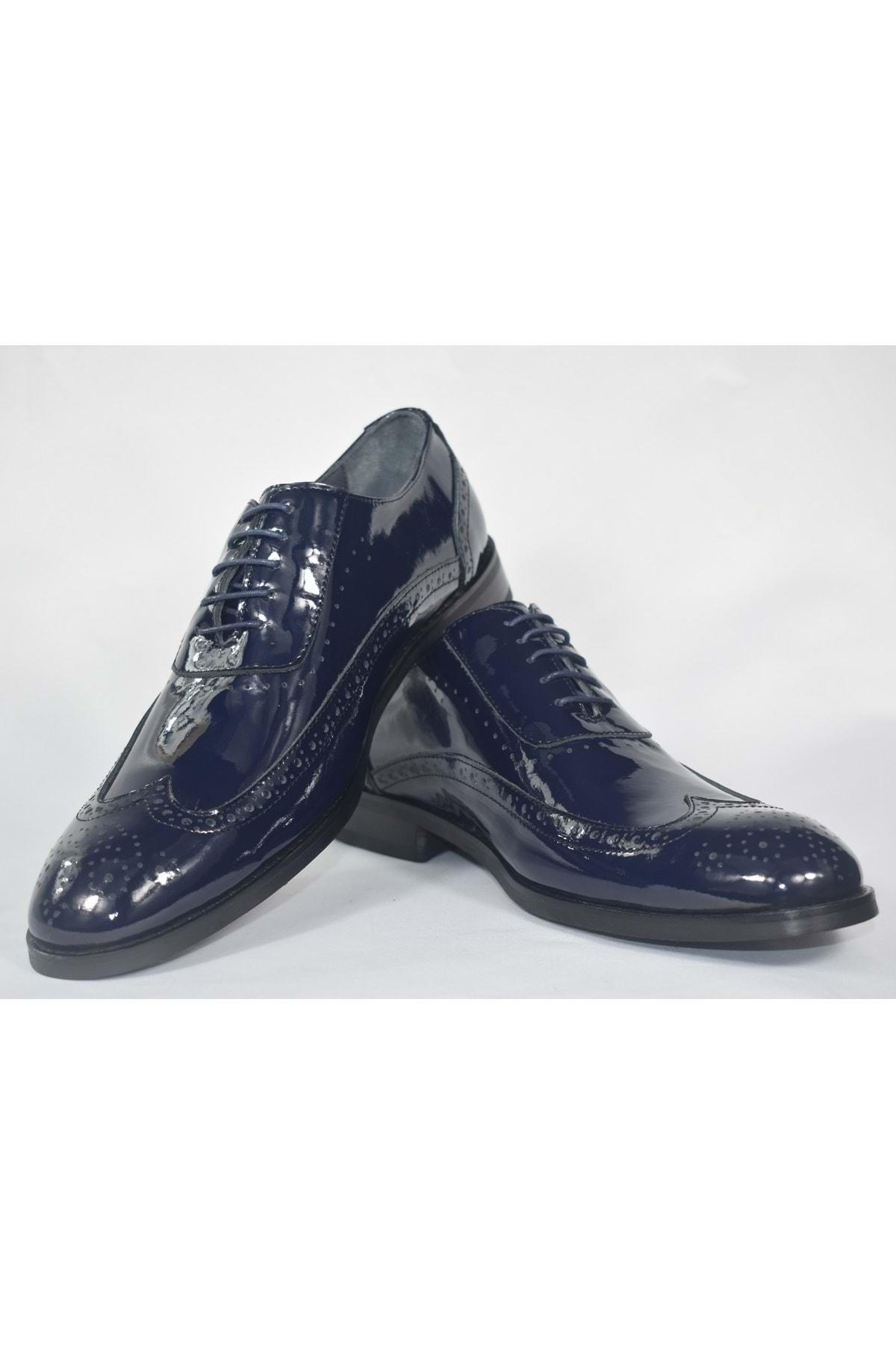 SAİLORS Erkek Lacivert Rugan Ayakkabı 1