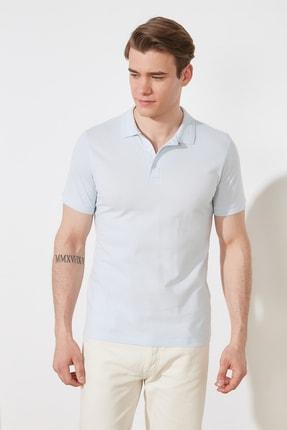 TRENDYOL MAN Mavi Erkek Slim Fit Polo Yaka Kısa Kollu Polo Yaka T-shirt TMNSS20PO0009