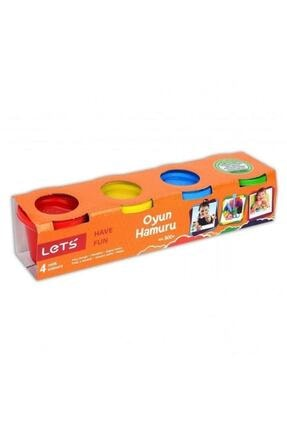 Lets 4 Renk Oyun Hamuru 300 Gr.