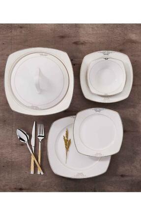 KORKMAZ Mona Collection 60 Parça Kare Yemek Takımı