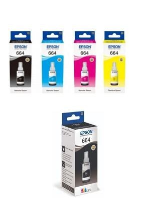 EPSON Siyah Ve RenkliMürekkep Kartuş Takımı + Bk Ecotank L382