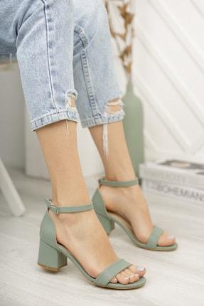 Diardi Kadın Su Yeşili Günlük Topuklu Sandalet