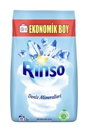 Rinso Deniz Mineralleri Beyazlar İçin Toz Çamaşır Deterjanı 8 kg 53 Yıkama
