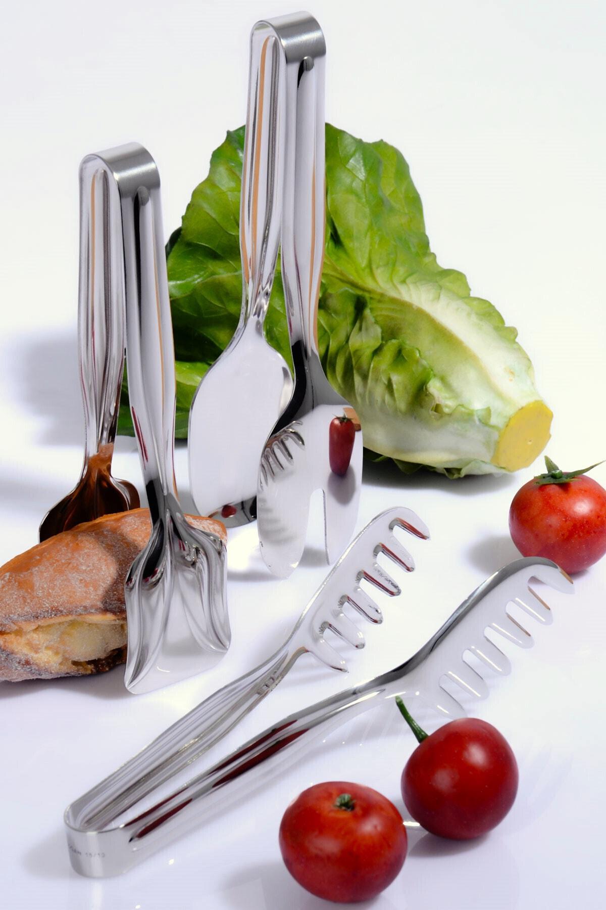 Kitchen Life Paslanmaz Çelik 3'lü Maşa Seti 1