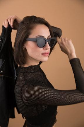 Bilge Karga Kadın Siyah Nia Matt Black Güneş Gözlüğü
