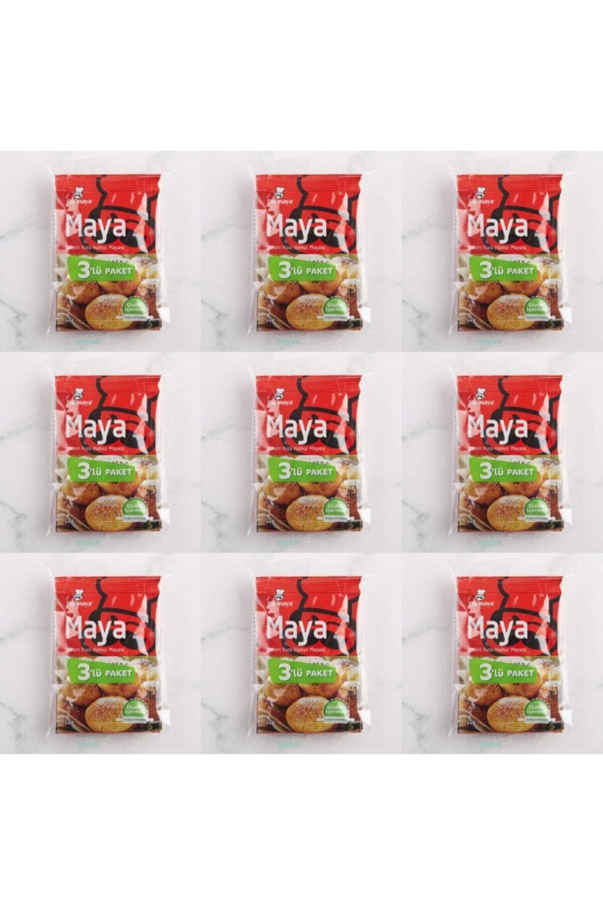 Pakmaya Glutensiz Instant Kuru Maya 3x10 gr 9 Paket 1