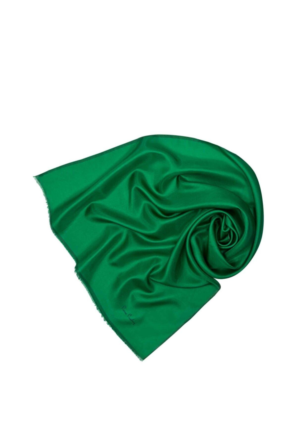 Pierre Cardin Kadın Yeşil Vual Fular Düz Eşarp 7083324-352 2