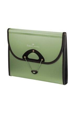 Faber Castell Körüklü Evrak Dosyası 13 Bölmeli Yeşil A13 Serisi