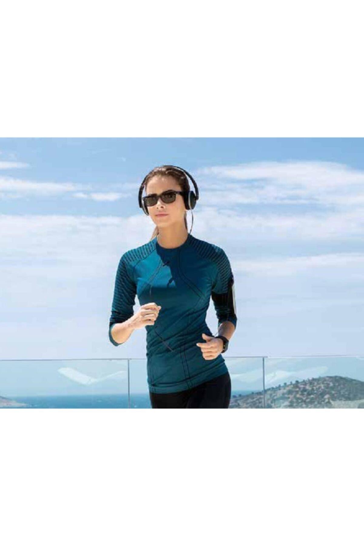 Yeni İnci Kadın Petrol Uzun Kollu Sporcu T-shırt 2